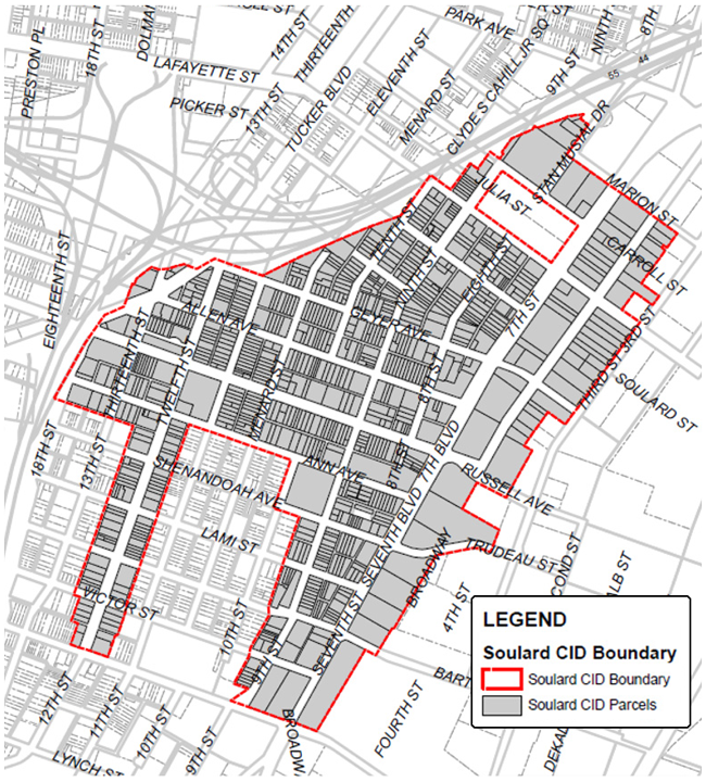 Soulard CID Boundary Map